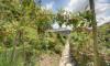 This terraced garden has a vegetable garden.