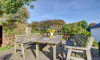 A lovely peaceful dining area in the secluded garden