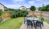 Enjoy al fresco dining in the enclosed garden