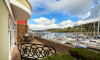 Large riverside terrace overlooking the River Dart