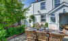 The patio is an ideal space to enjoy al fresco meals