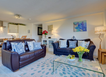 A calm and welcoming feel with a coastal theme throughout