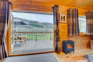 Living area with a wonderful countryside view, near Betws y Coed
