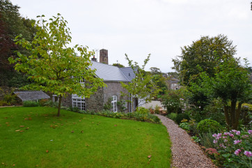 Path and gardens leading to Wild Rose Cottage