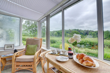 Stunning countryside views from the conservatory