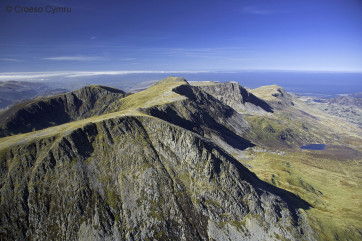 Cader Idris mountain range, looking out towards Barmouth and the coast