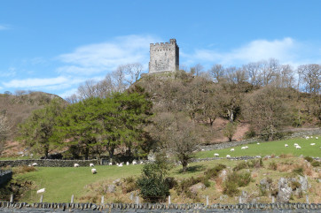 One of the area's main attractions: Dolwyddelan Castle
