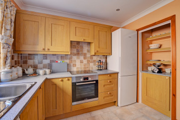 Well equipped kitchen, with everything needed for a self catering break