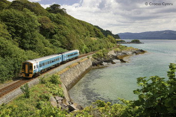 Catch the scenic train ride from Machynlleth along the coast