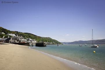 The stunning beach of Aberdyfi, just 12 miles away