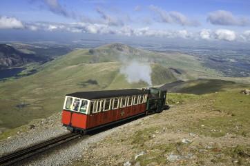 Steam train to the peak of Snowdon