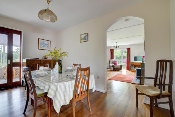 Dining room with archway to the sitting room
