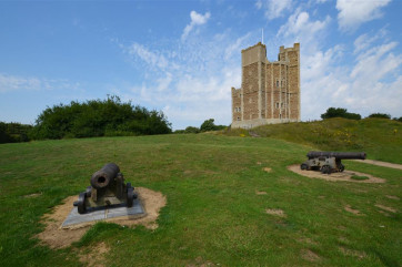 Orford has this charming Castle to lookwhilst staying in the area and has plenty of grass round about for a coastal picnic.