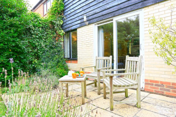 Garden space is good at The Lamp House and comes with garden furniture to enjoy the sun when it arrives.