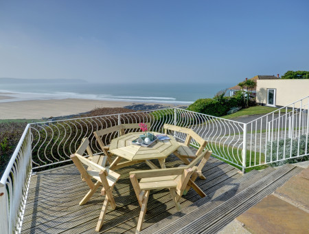 Being in an elevated position, Seascape has absolutely stunning views of Woolacombe beach