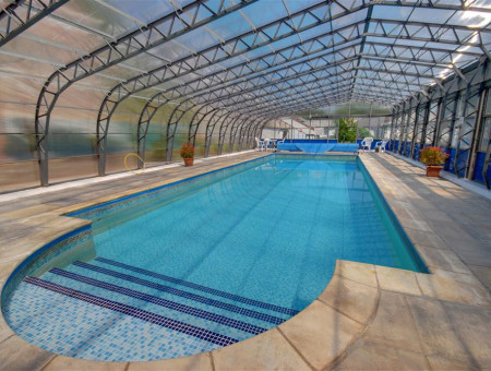 Heated swimming pool - take an early morning dip