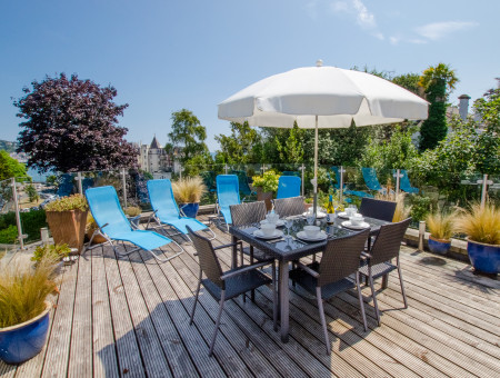 Manderley Torquay - Terrace ideal for al fresco dining