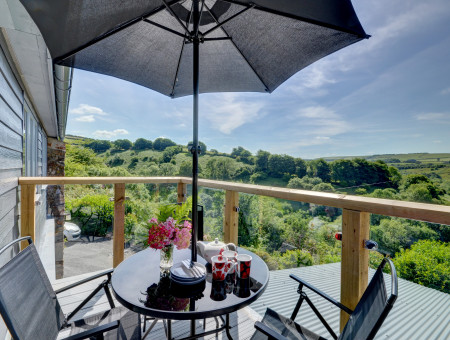 Enjoy al fresco dining on the balcony