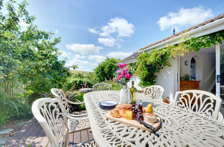 Wonderful sea and countryside views from the property