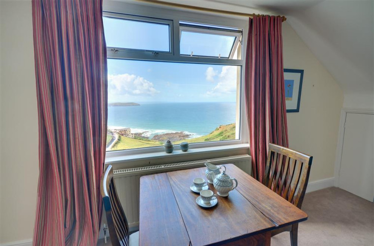 Stunning sea views can be enjoyed from the dining area