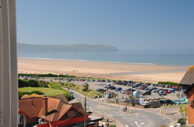 View across to Baggy point and Woolcombe from the balcony