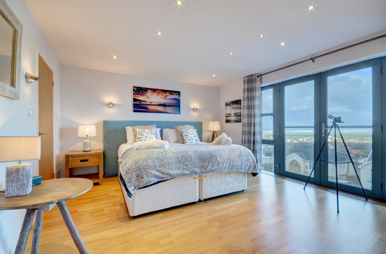 The stunning master bedroom which has ensuite and dressing room