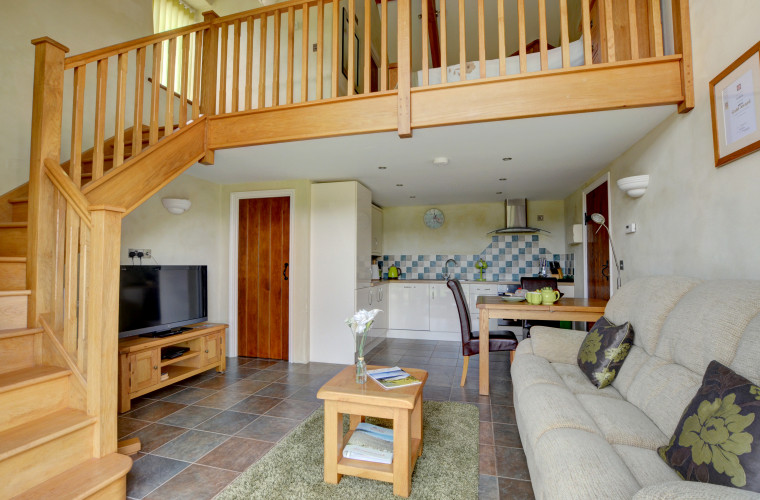 Beautifully designed and decorated open planning living area