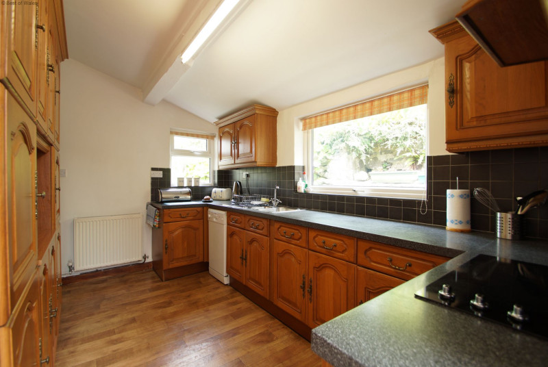 Well equipped kitchen including microwave, fridge freezer & dishwasher.