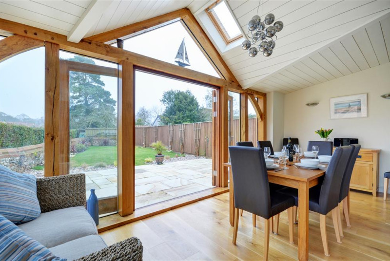 Stunning garden room with dining table