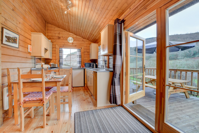 Fully fitted kitchen with open countryside views near Betws y Coed