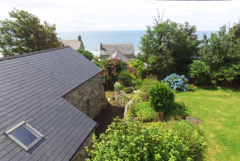 Enjoy the sea views from the garden and from the first floor lounge