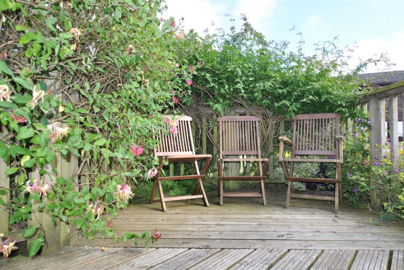 Enjoy your morning coffee on the decked area