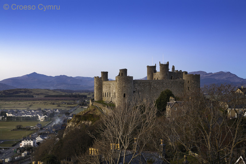 Harlech Castle's World Heritage Site, 7 miles north