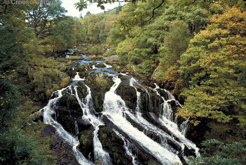 Swallow Falls (Rhaeadr Ewynog) in Betws y Coed