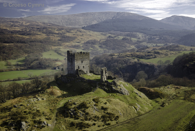 The Welsh castle at Dolwyddelan, just 7 miles from your lodge