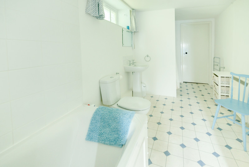 The bathroom is very spacious