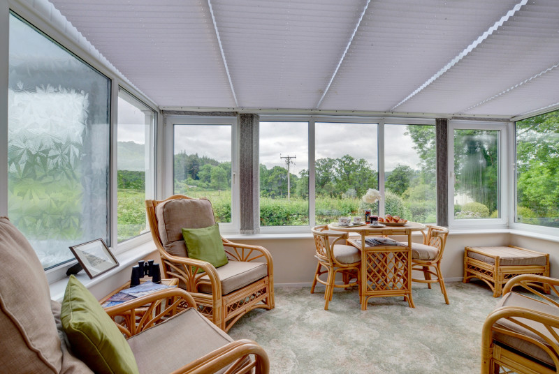 The bungalow benefits from a lovely conservatory