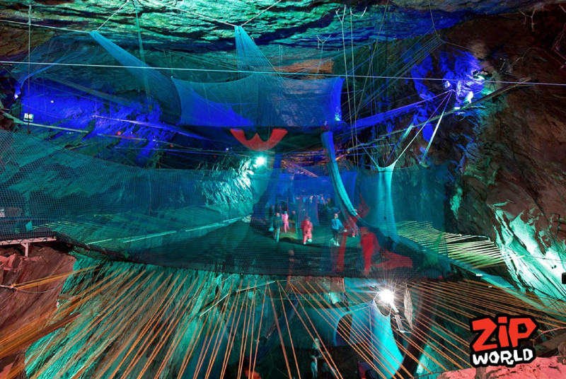Bounce Below at Blaenau Ffestiniog