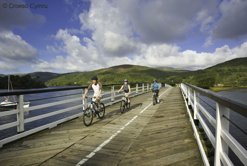 Follow the Mawddach Trail on foot or on two wheels to Dolgellau