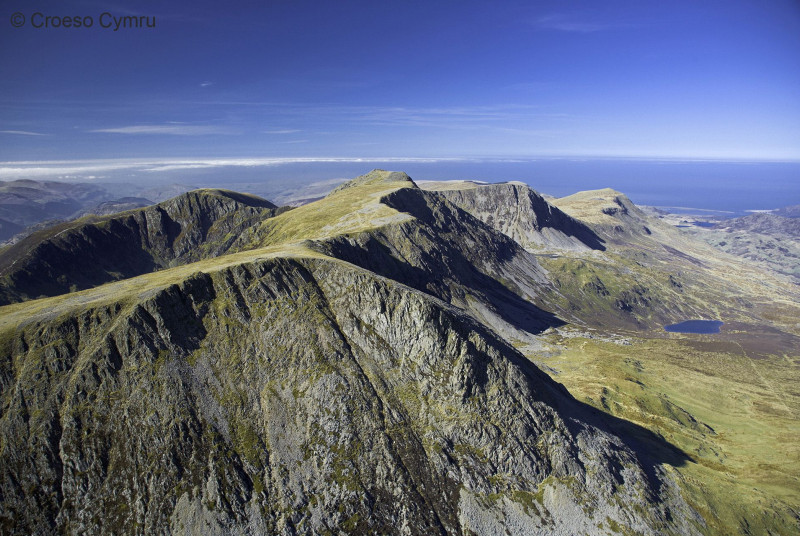 The amazing view from Cader Idris, looking west towards Barmouth