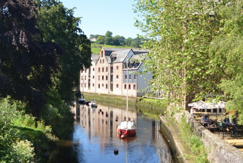 Totnes town and the River Dart