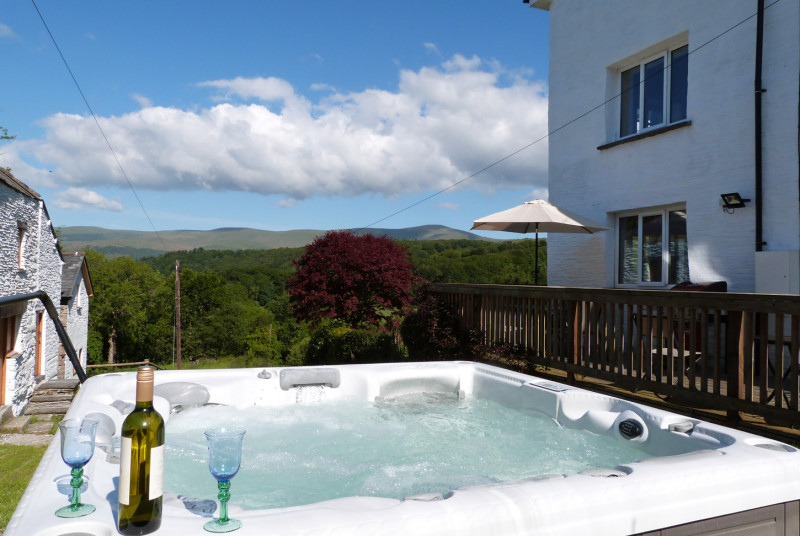 Hot tub with a view - the perfect setting for a relaxing holiday