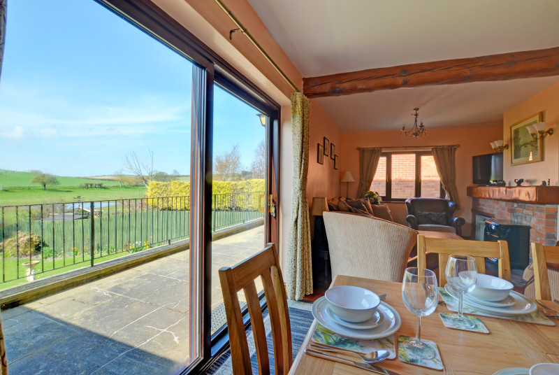 Beautiful views of the countryside from the sitting room